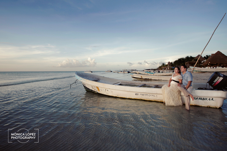 Isla Holbox Trash The Dress by Monica Lopez Photography