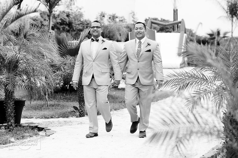Riviera Maya Same Sex Destination Wedding at Arenika Beach Club by Monica Lopez Photography