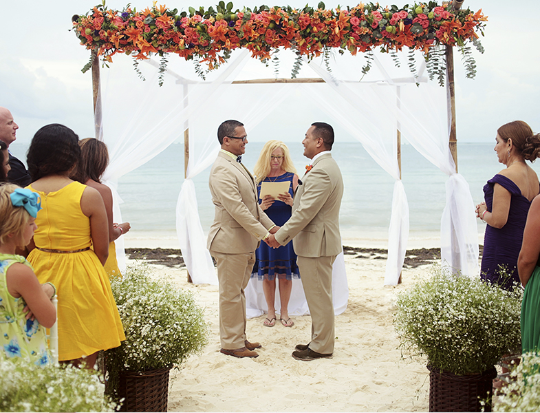Riviera Maya Same-Sex Destination Wedding at Arenika Beach Club by Monica Lopez Photography