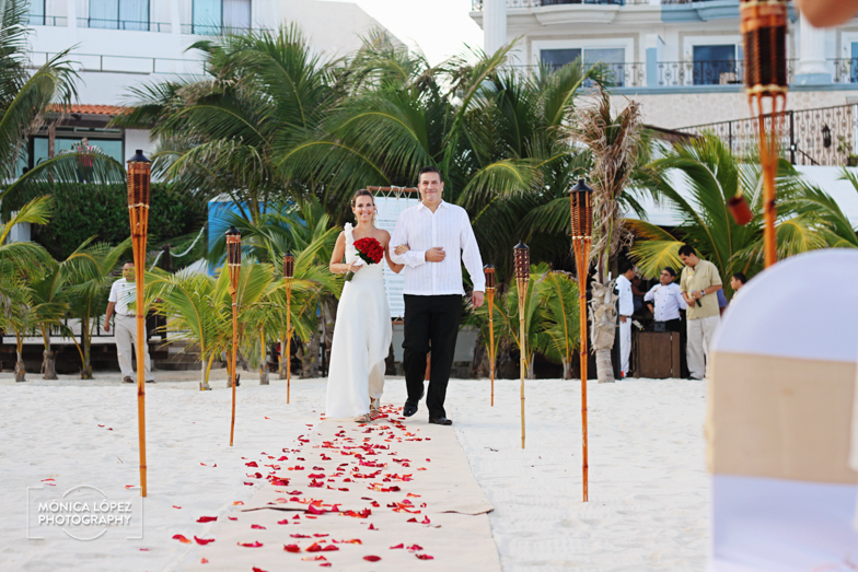 Tatiana and Adrián, Wedding at Hotel Flamingo, Cancún, México (13)