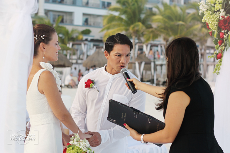 Tatiana and Adrián, Wedding at Hotel Flamingo, Cancún, México (16)