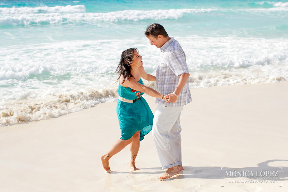 Cancun Engagement Portraits at Playa Delfines