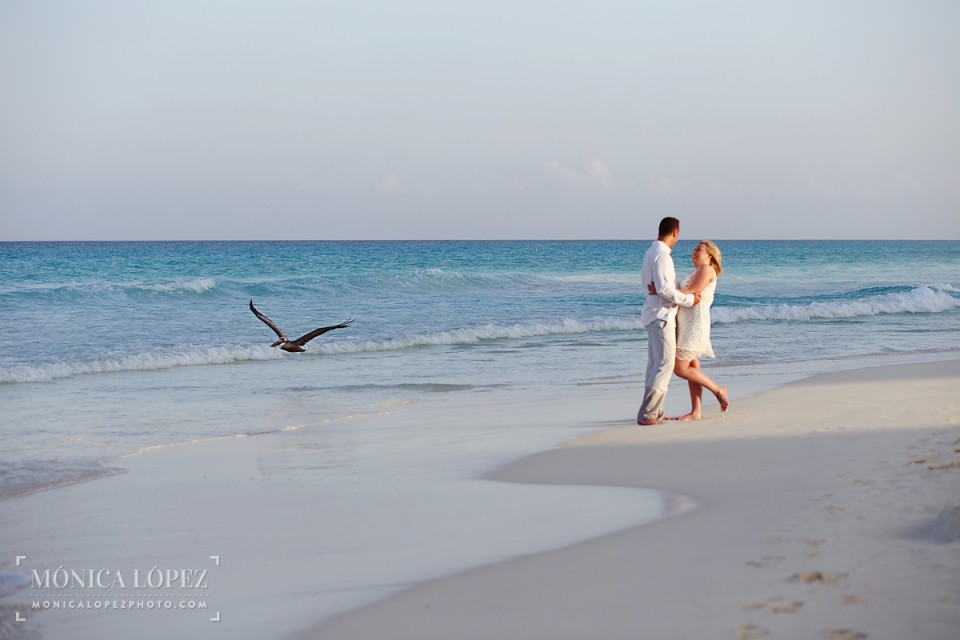 Cancun Romantic Beach Portraits at ME Cancun - Diana + Zach