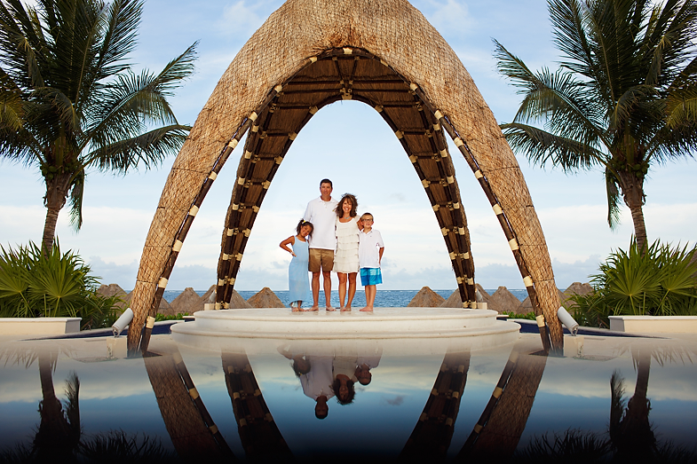 Family Beach Portraits at Dreams Riviera Cancun, Puerto Morelos, Mexico - The Gdowski's