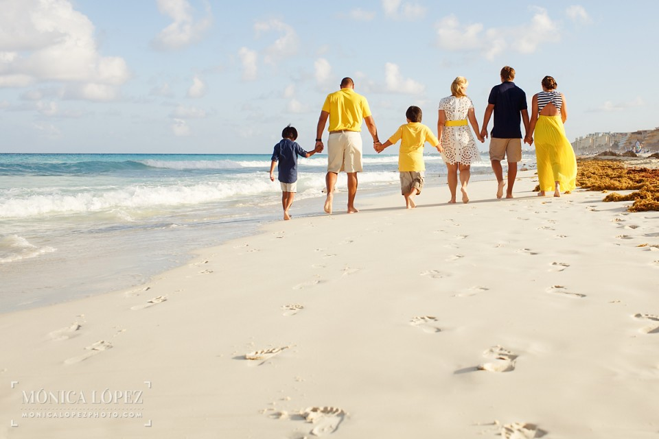 Family Beach Portraits at JW Marriot, Cancun, Mexico - The Tijerina