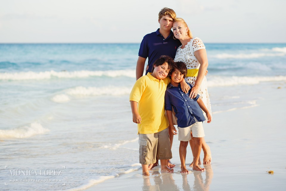 Family Beach Portraits at JW Marriott Cancun - The Tijerinas