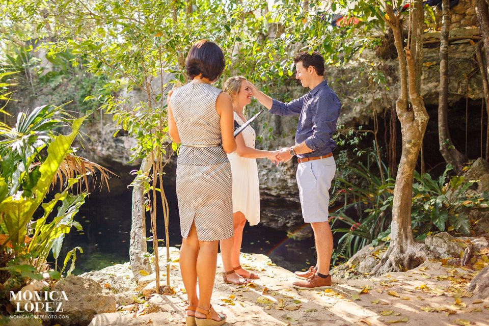 Romantic Cenote Elopement by Monica Lopez Photography