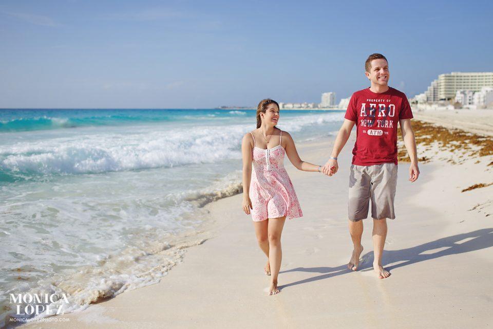 Cancun Honeymoon Portraits at Playa Delfines Cancun, Mexico - Larissa + Felipe