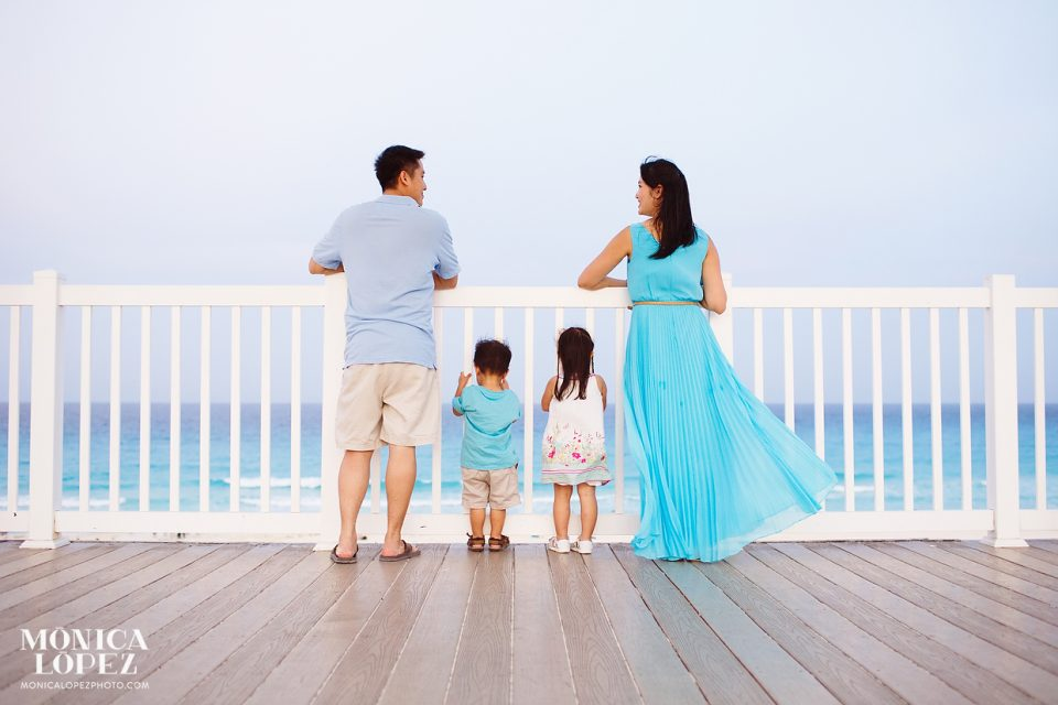 Family Beach Portraits at Playa Delfines, Cancun, Mexico - The Hsiung's