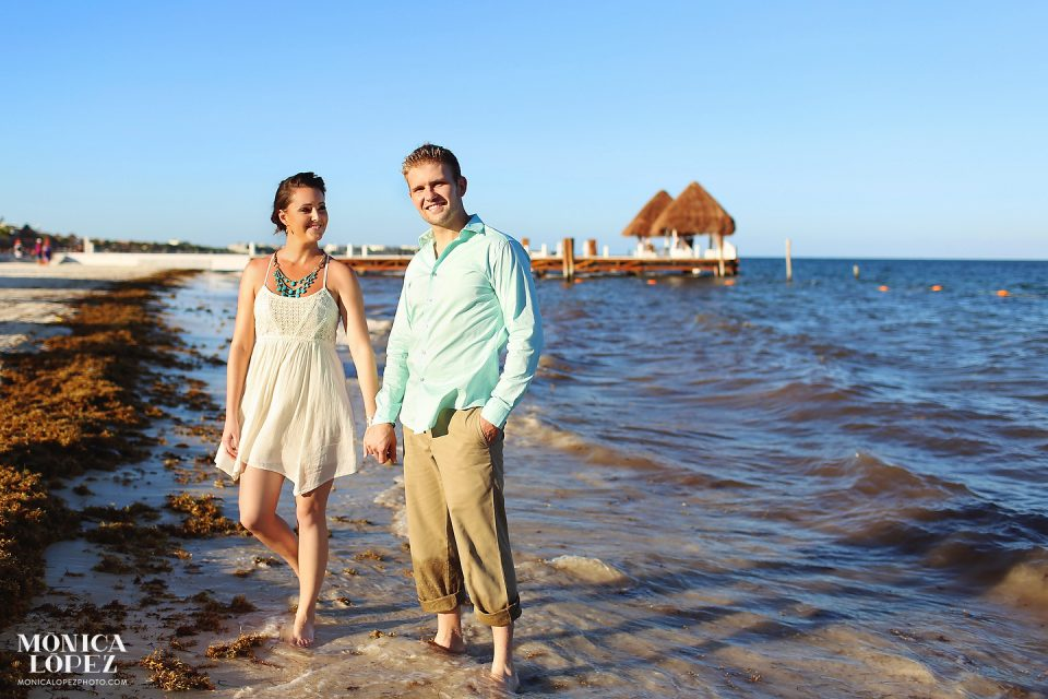 Puerto Morelos Romantic Portraits in Dreams Riviera Cancun, Mexico - Erica + Bobby