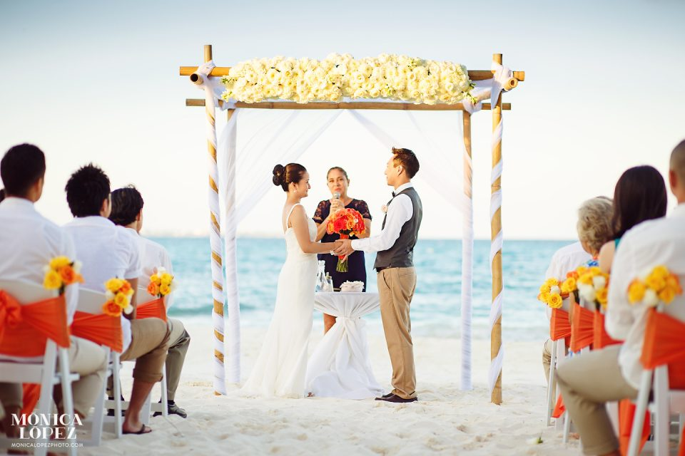 Fiesta Americana Grand Coral Beach Cancun Wedding by Monica Lopez Photography