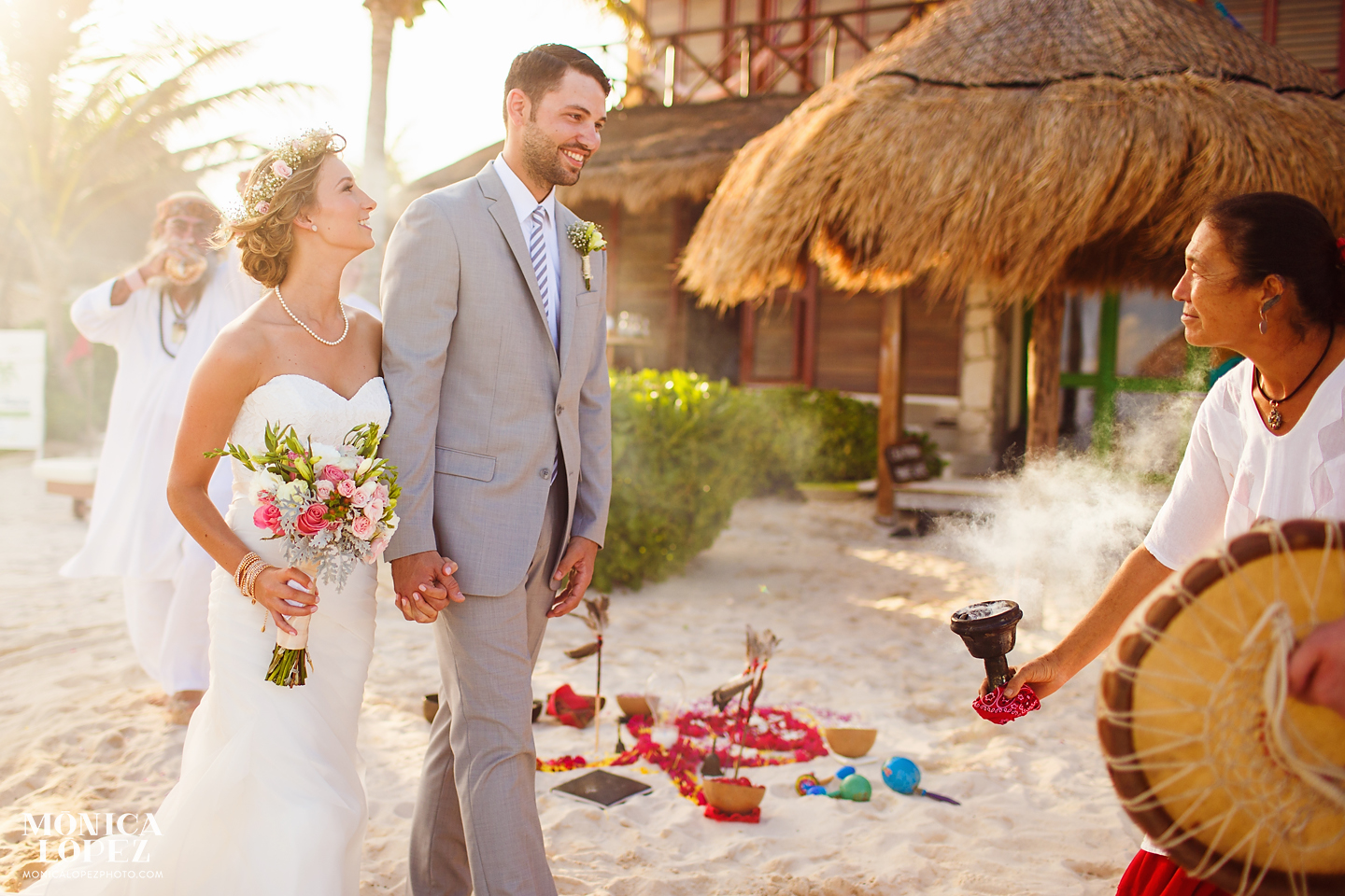 Romantic Boho Wedding in Tulum by Monica Lopez Photography