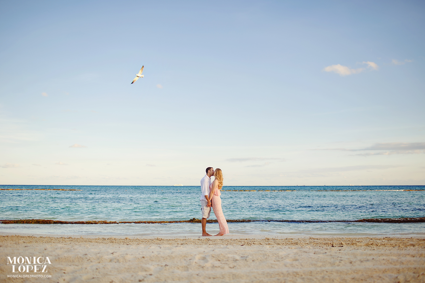 Playa Del Carmen Honeymoon Portraits by Monica Lopez Photography