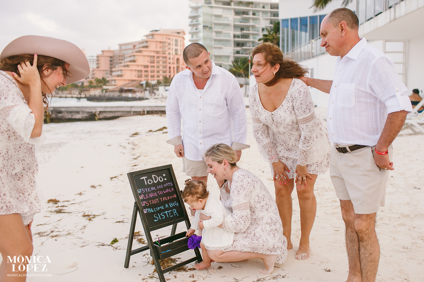 Riu Palace Peninsula Family Portraits - Surprise Baby Announcement