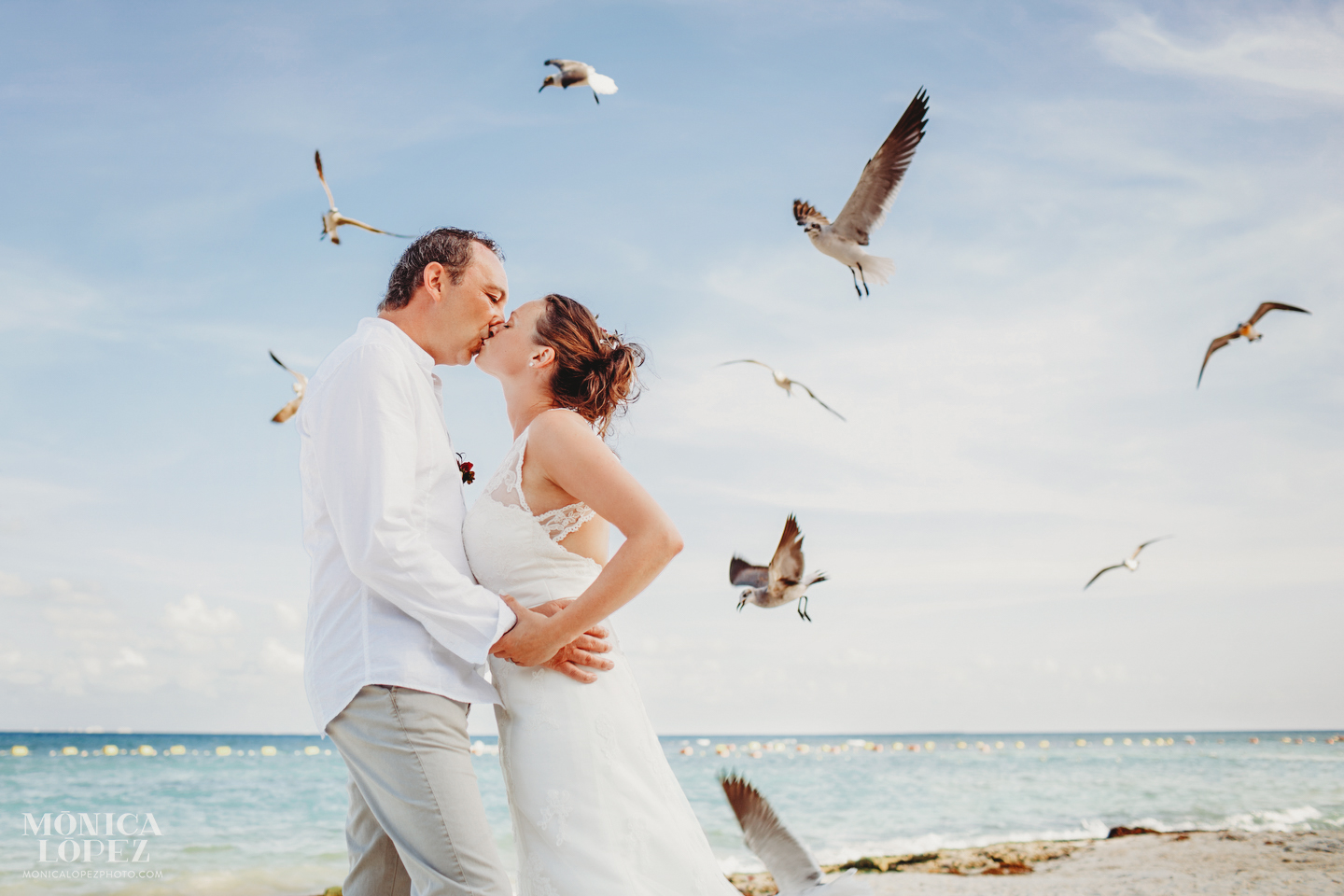 Playa del Carmen Elopement by Monica Lopez Photography