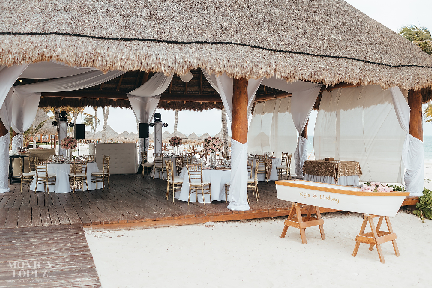 Excellence Riviera Cancun Beach Wedding by Monica Lopez Photography