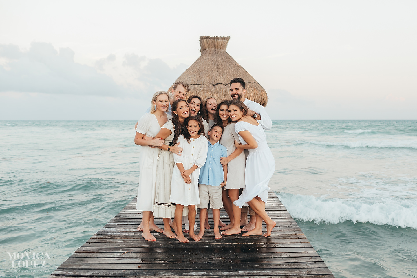 Grand Luxxe Riviera Maya Family Portraits by Monica Lopez Photography