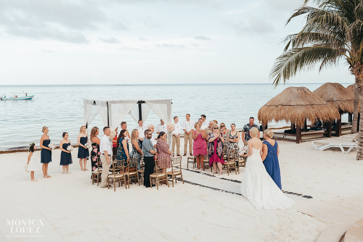 Azul Beach Riviera Wedding by Monica Lopez Photography