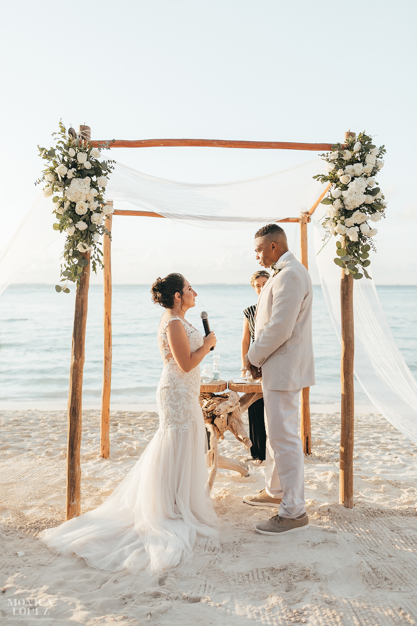 Isla Mujeres Playa Norte Sunset Wedding by Monica Lopez Photography