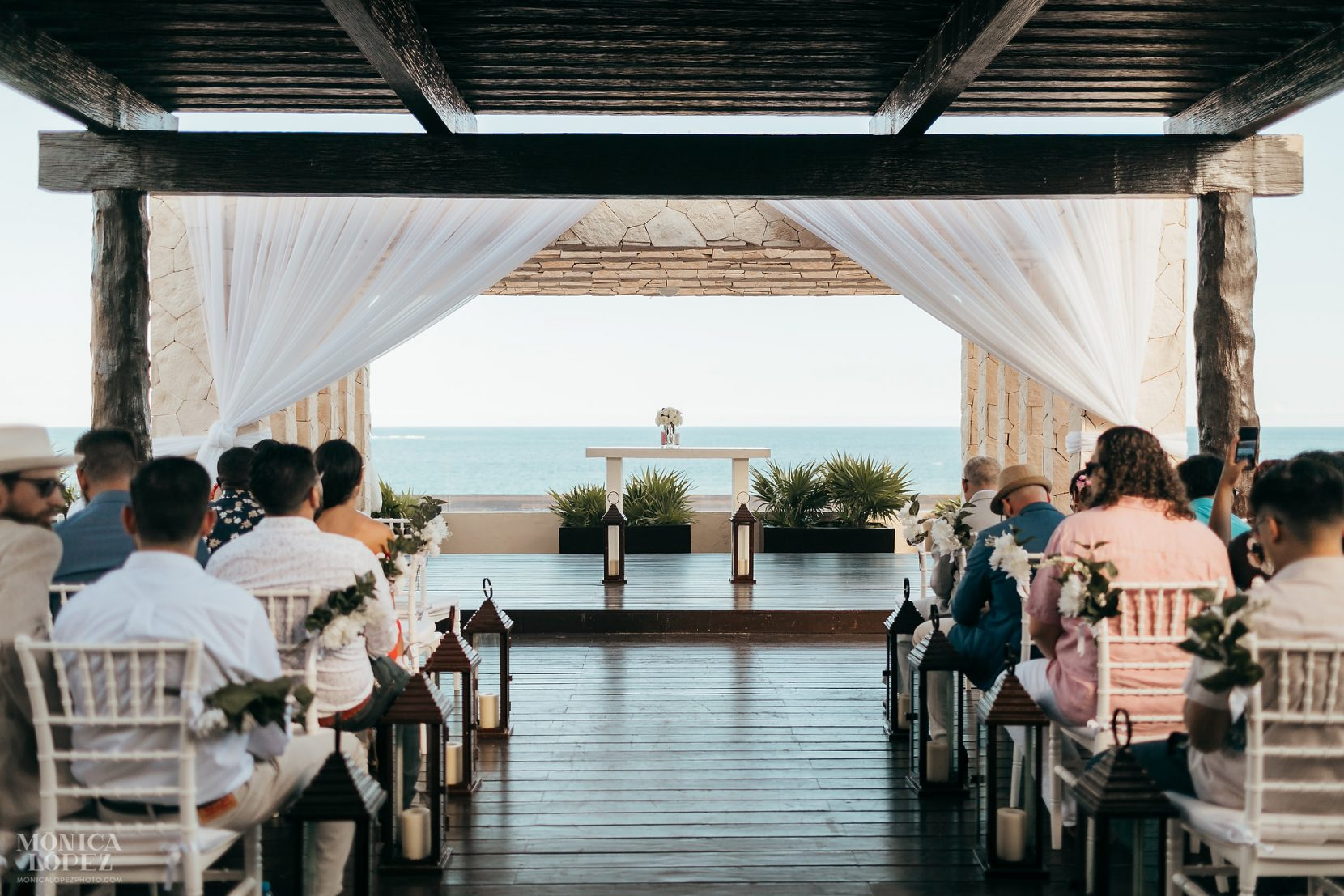 Royalton Riviera Cancun Hideaway Sky Terrace Wedding Set up