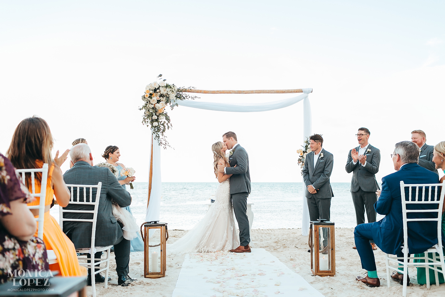 Dreams Riviera Cancun Beach Wedding by Monica Lopez Photography
